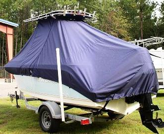 Trophy, 1903WA, 20xx, TTopCovers™ T-Top boat cover, port rear