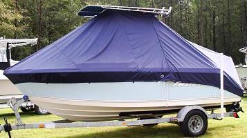 Trophy, 1903WA, 20xx, TTopCovers™ T-Top boat cover, port side