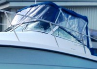 Trophy, 2352 WA, 2004, Bimini Top, Front Connector, Side Curtains, Aft Drop Curtain, stbd front
