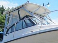 Photo of Trophy 2509 WA, 2003: Hard-Top, Front Connector, Side-Curtains, viewed from Starboard, Front