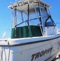 Photo of Trophy 2509 WA, 2003: Hard-Top, Front Connector, Side and Aft-Drop-Curtains, viewed from Starboard, Rear