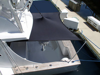Boat-Shade-Kit-Custom™T-Top Boat Shade Kit Custom fit to Sport Fish boat, connects to Front or Rear of T-Top or Hard-Top frame to provide extra shade Fore or Aft