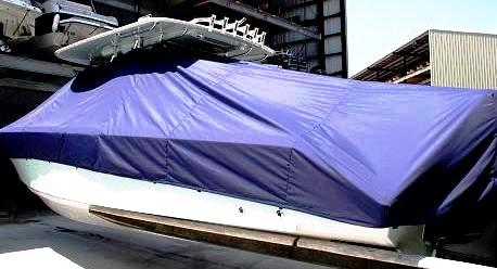 Venture 34CC, 19xx, TTopCovers™ T-Top boat cover, port rear