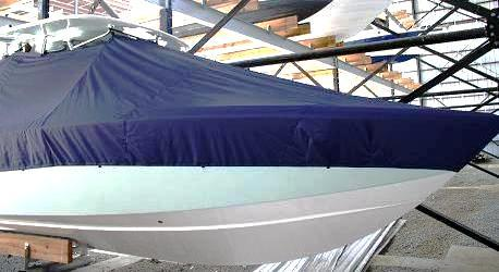 Venture 34CC, 19xx, TTopCovers™ T-Top boat cover, starboard front