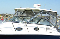 Wellcraft, Coastal 340, 2013, Factory Hard Top, Connector, Front and Rear Side Curtains, Aft Drop Curtain, stbd rear
