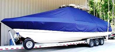 Wellcraft Scarab 352 Sport, 20xx, TTopCovers™ T-Top boat cover, port front