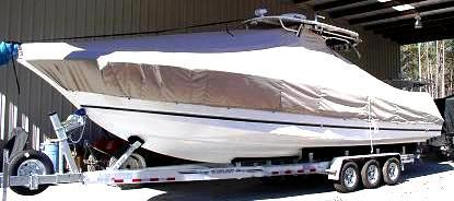 Wellcraft Scarab 352 Tournament, 20xx, TTopCovers™ T-Top boat cover, port front