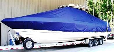 Wellcraft Scarab 35CCF, 20xx, TTopCovers™ T-Top boat cover, port front