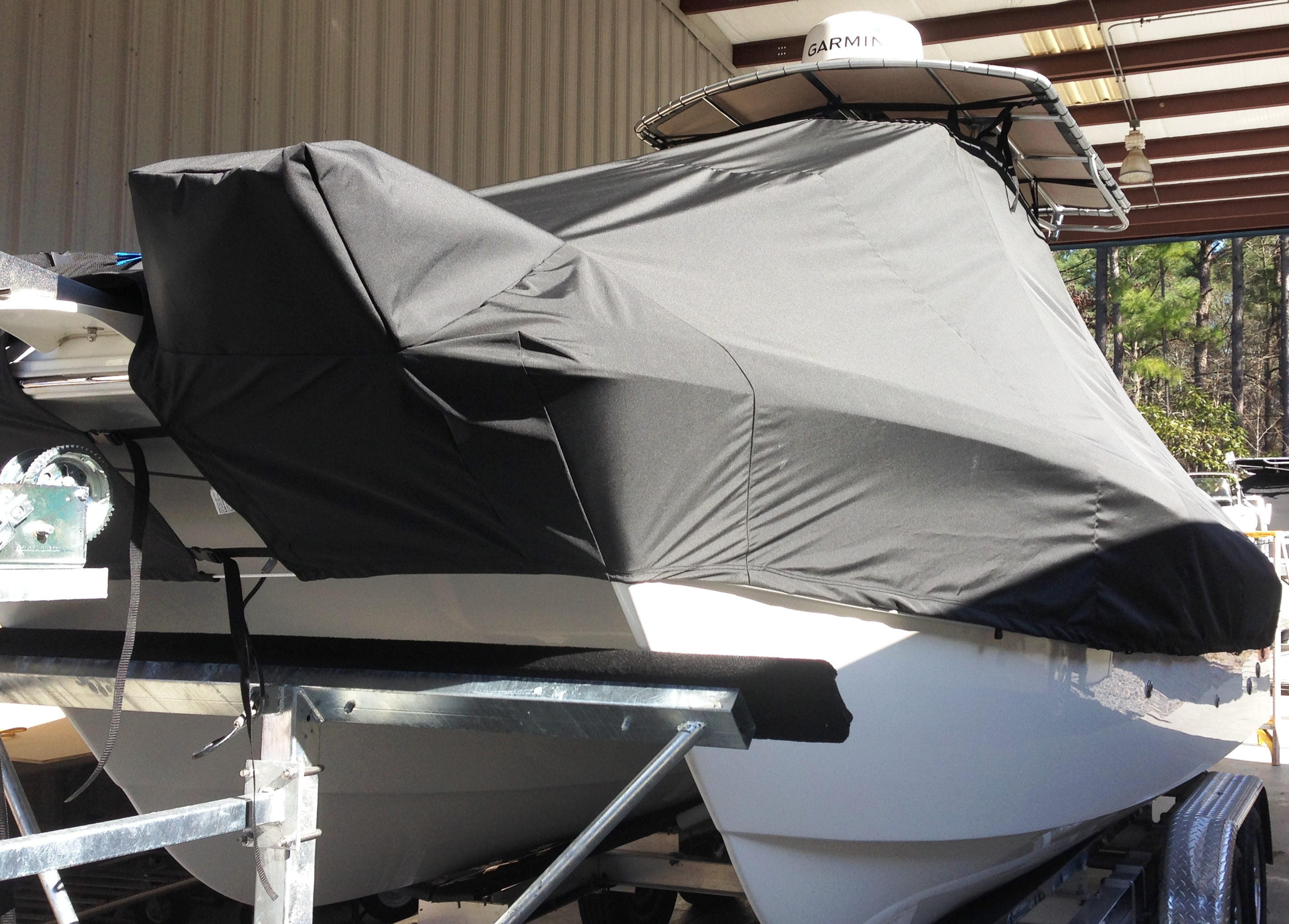 World Cat 230 CC, 20xx, TTopCovers™ T-Top boat cover, port front