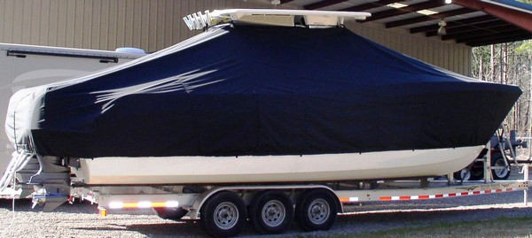 World Cat 320 CC, 20xx, TTopCovers™ T-Top boat cover, starboard side