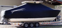 Photo of World Cat 320 CC 20xx T-Top Boat-Cover, viewed from Starboard Side