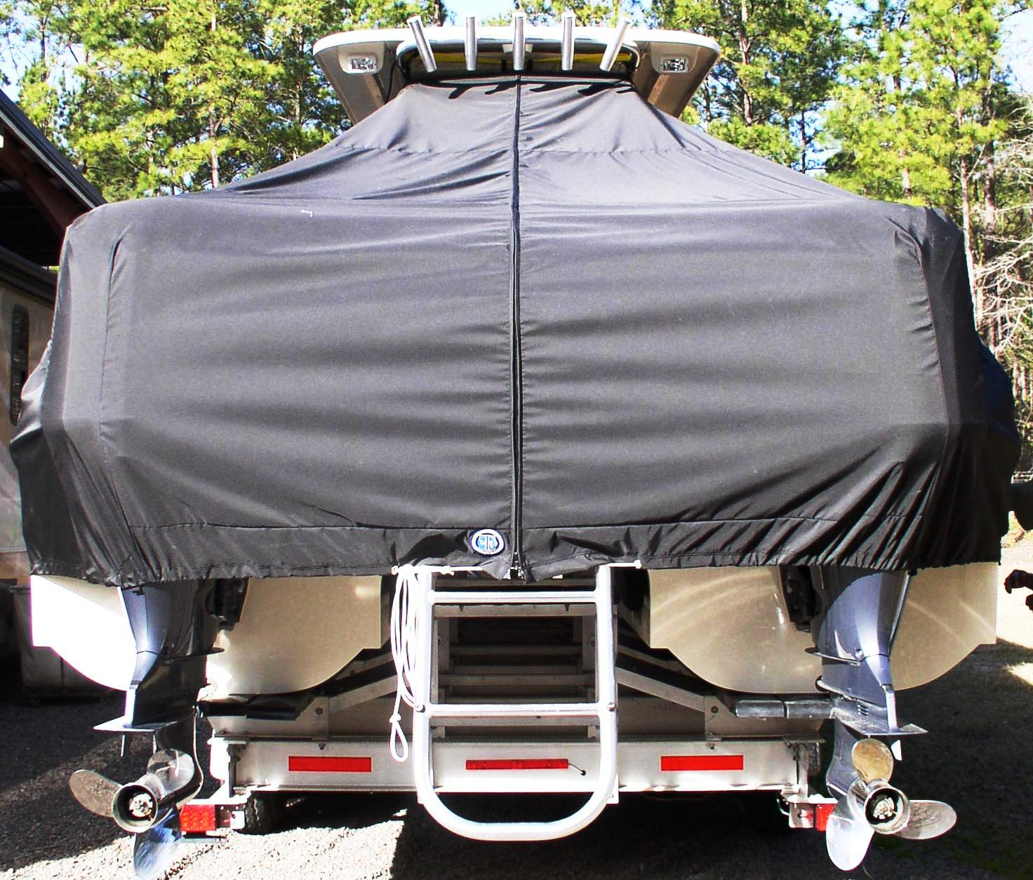 World Cat 320 DC, 20xx, TTopCovers™ T-Top boat cover rear