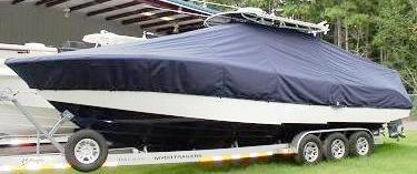 Yellowfin 32CC, 19xx, TTopCovers™ T-Top boat cover, port front