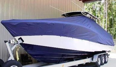 Yellowfin 34CC, 19xx, TTopCovers™ T-Top boat cover, port front