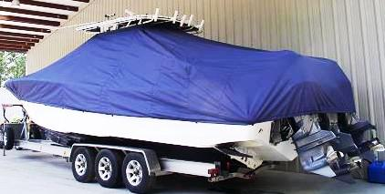 Yellowfin 34CC, 20xx, TTopCovers™ T-Top boat cover, port rear