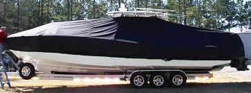 Yellowfin 36CC, 20xx, TTopCovers™ T-Top boat cover, port side